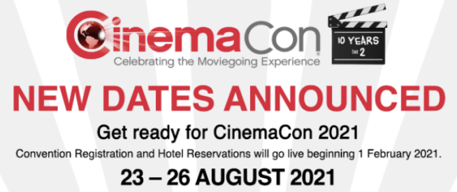CinemaCon 2021 Scheduled