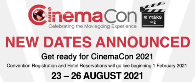 CinemaCon 2021 Scheduled