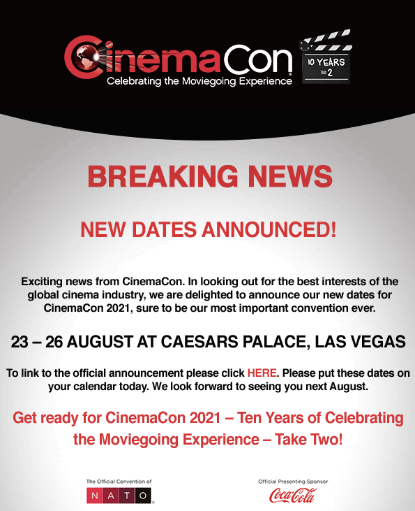 CinemaCon 2021 Breaking News